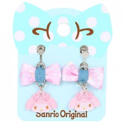 My Melody Bow Clip-On Earrings
