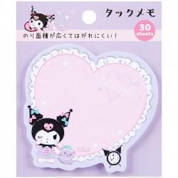 Kuromi Heart Pillow Die-Cut Sticky Notes