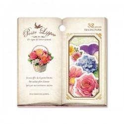 Bolsa Pegatinas Poste Lippee Garden Flowers