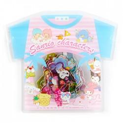 Saco Stickers Summer T-Shirt Sanrio Characters Beach
