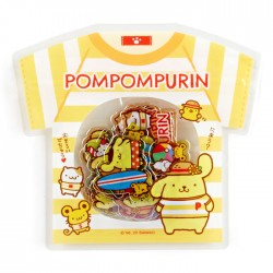 Saco Stickers Summer T-Shirt Pompom Purin Beach
