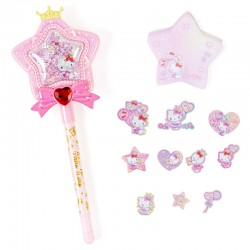 Set Caneta & Bloco Notas Magical Star Wand Hello Kitty