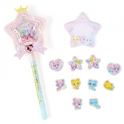 Set Caneta & Bloco Notas Magical Star Wand Mewkledreamy