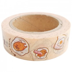 Gudetama Breakfast Washi Tape