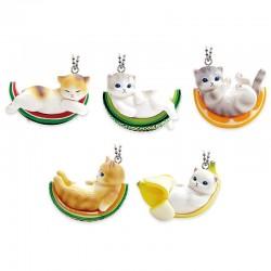 Pendente Fruit Neko Cat Gashapon