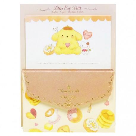 Pompom Purin x Miki Takei Fluffy Souffle Mini Letter Set