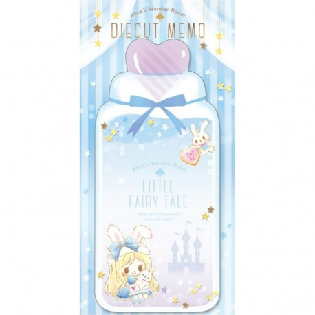 Little Fairy Tale Princess Room Alice Die-Cut Memo Pad