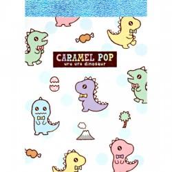 Caramel Pop Uru Uru Dinosaur Mini Memo Pad
