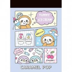 Mini Bloco Notas Caramel Pop Sweets Times