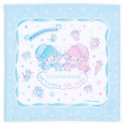 Little Twin Stars 45th Anniversary Blue Mini Towel