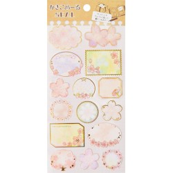 Cherry Blossoms Tags Stickers
