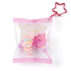 Little Twin Stars 45th Anniversary Pink Candy Bag Keychain