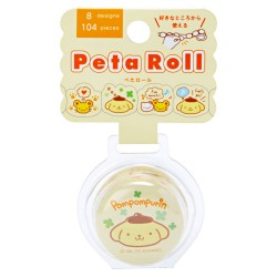 Peta Roll Pompom Purin Peel-Off Washi Tape