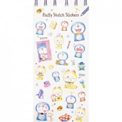 Stickers Fluffy Sketch Doraemon