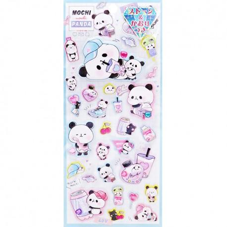 Mochi Panda Favorite Time Puffy Stickers