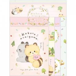 Kokoro Araiguma Hugs Letter Set