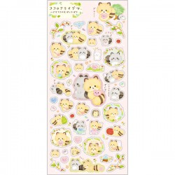 Kokoro Araiguma Hugs Stickers
