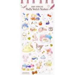 Pegatinas Fluffy Sketch Sanrio Characters