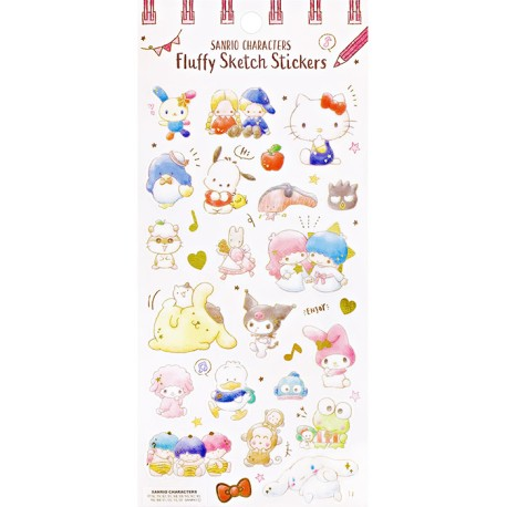 Sanrio Characters Fluffy Sketch Stickers