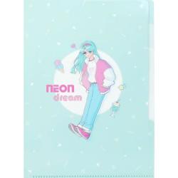 Neon Dream Girl Index File Folder