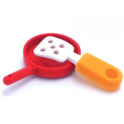 Frying Pan Erasers Set