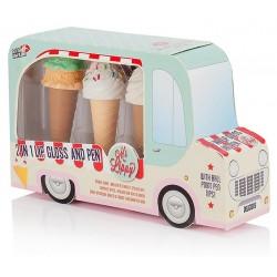 Ice Cream Van Lip Gloss & Pen Set