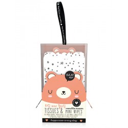 Bear Tissues & Mini Wipes Set