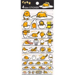 Gudetama 4 Size Stickers