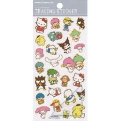 Stickers Tracing Sanrio Characters