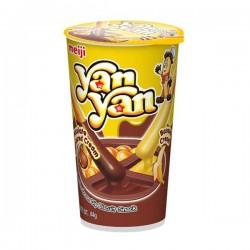 Biscoitos Palito Yan Yan Duo Creme Banana