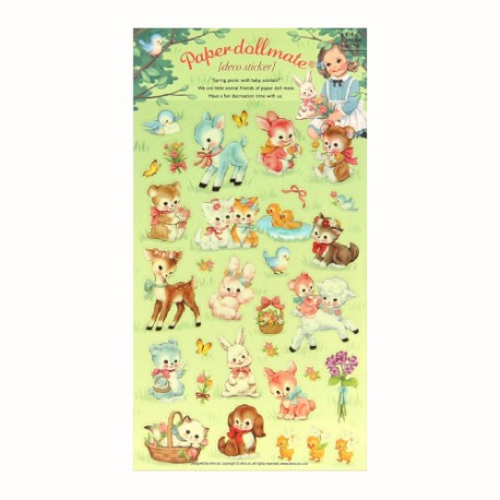 Paper Doll Mate Spring Picnic Stickers