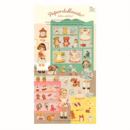 Stickers Paper Doll Mate Home