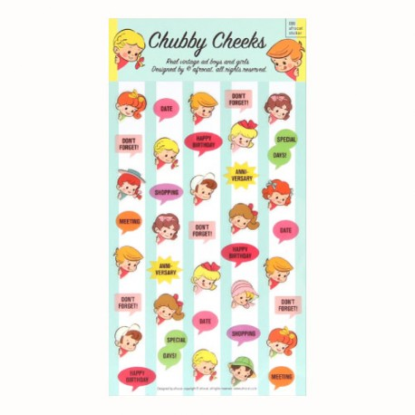 Chubby Cheeks Planner Stickers