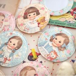 Espejo Bolsillo Paper Doll Mate Floral