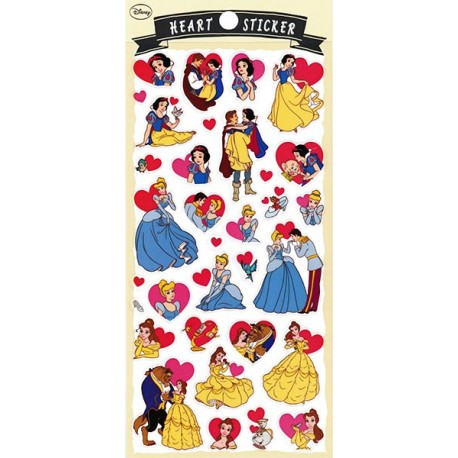 Stickers Heart Princesas
