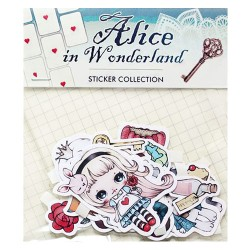 Alice in Wonderland Stickers Sack