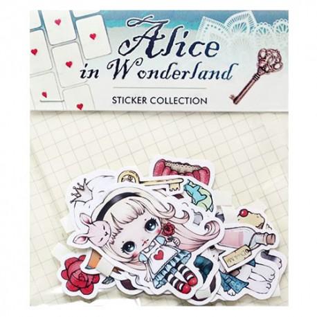 Saco Stickers Alice in Wonderland