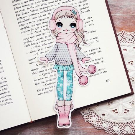 Ear Muffs Girl Bookmark