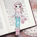 Ear Muffs Girl Bookmark