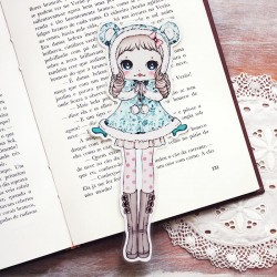 Bear Cape Girl Bookmark