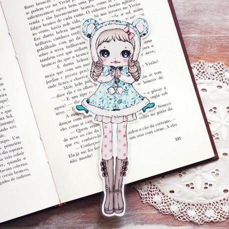 Marcador Livro Bear Cape Girl