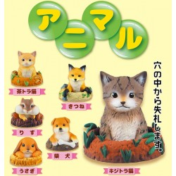 Mini Figura Animal Burrow Gashapon