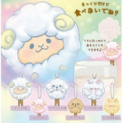 Cotton Candy Animal Keychain Gashapon