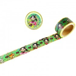 Akubi Girl Washi Tape Happiness