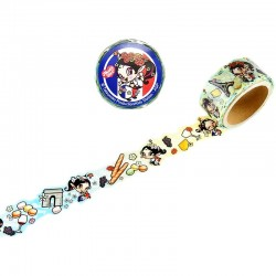Washi Tape Die-Cut Akubi Girl Tourism