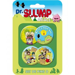 Dr. Slump Button Badges Set D