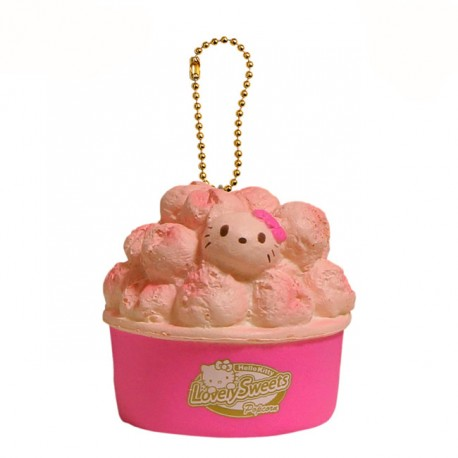 Hello Kitty Popcorn Squishy