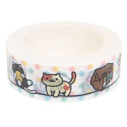 Neko Atsume Dots Washi Tape
