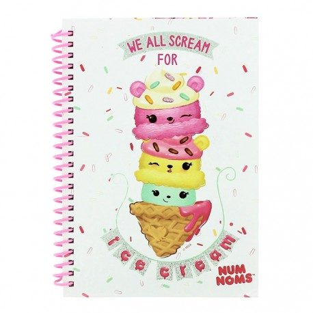 Num Noms Ice Cream A5 Notebook Kawaii Panda Making