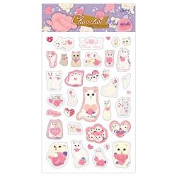 Choo Choo Bling Pink Vanilla Stickers
